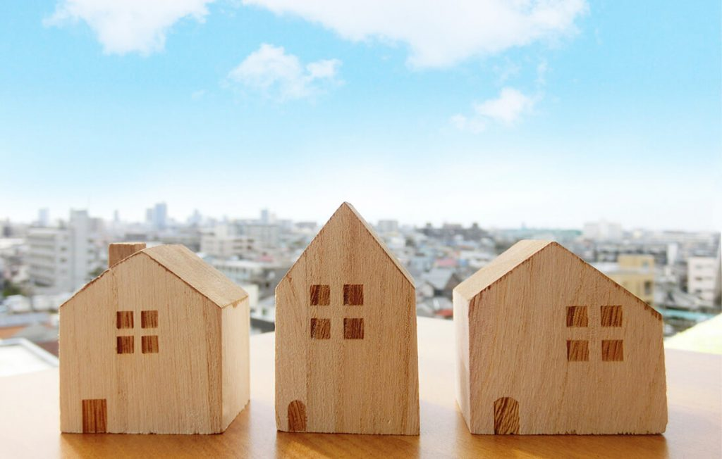 木造ハウスのミニチュア